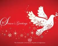 Season's Greetings from Ambassador M. Ashraf Haidari