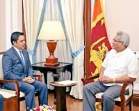 Ambassador Haidari Calls on President Gotabaya Rajapaksa Following His Electoral Victory