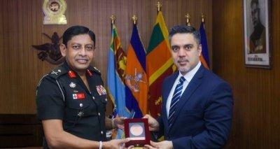 Ambassador Haidari Visits Afghan Cadets and Meets KDU Vice Chancellor Major General Peiris