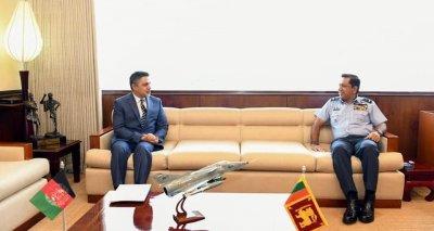 Ambassador Haidari Meets Sri Lankan Air Force Commander Air Marshal Pathirana, Discusses Defense Cooperation
