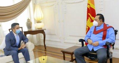 Prime Minister Rajapaksa Meets Ambassador Haidari and Assures Him of Sri Lanka's Support for the Afghan People