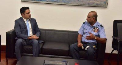 Ambassador Haidari Visits the Sri Lanka Air Force Academy, Meets the Academy Commandant