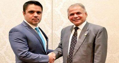 Ambassador Meets SAARC Secretary-General Amjad Hussain B. Sial on the Sidelines of the SAARC Film Festival