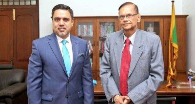 Ambassador Haidari Meets Minister of Education Peiris, Seeks Scholarships in Hard Sciences