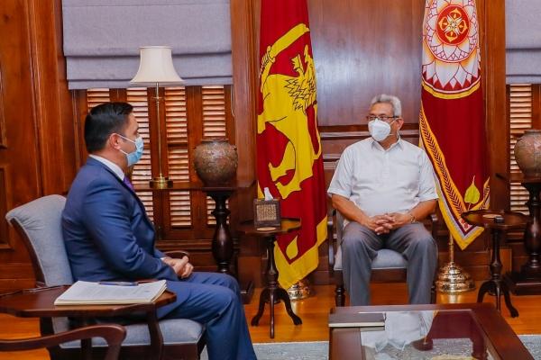 Ambassador Haidari and President Rajapaksa Meet to Discuss Growing Bilateral Ties and Recent Developments in Afghanistan