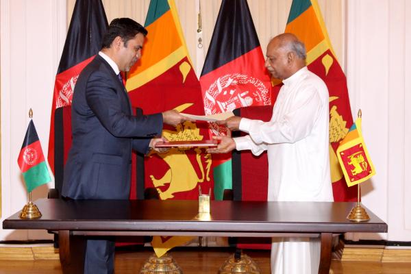 Ambassador Haidari and Foreign Minister Gunawardena Sign Historic MOU to Deepen Bilateral Relations
